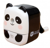 sea-junop Creative Chinese Lovely Panda Hand Rotating Pencil Sharpener