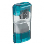 MOBIUS & RUPPERT - Sharpener Container with Eraser & Sliding Shutter