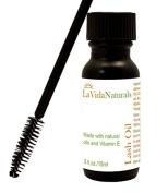 La Vida Lash Oil Eyelash & Eyebrow Rapid Growth Product Serum Enhancer 100% Natural Oil -15ml