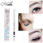 Baomabao 1PC White Eyeliner Pencil Waterproof Long Lasting Eye Brighten