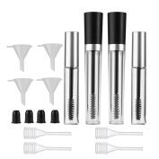 Frcolor 7.5 ml/ 10 ml Empty Mascara Tube Eyelashes Tube Eyelash Cream Container Bottle with Wand Rubber Inserts Funnels Transfer Pipettes