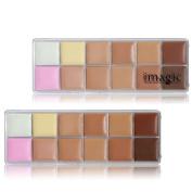 IMAGIC Profissional 12 Colours Cosmetic Camouflage Concealer Palette Face Makeup Face Cream Concealer Palette