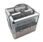 BR Carry All Trunk Professional Makeup Kit - Eyeshadow, Eyeliner, Lip Stick All In One Clear Case
