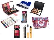 Professional Makeup Kit Gift Sets - Eyeshadow Makeup Brushes Set Eyeliner Lip Liner Marcara Eye Curler Contour Kit With Beauty Cosmetic Bag