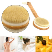 Lowpricenice(TM) Long Handle Wooden Bath Shower Body Back Brush Spa Scrubber Exfoliating Bath Tool