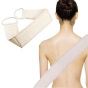 Natural Exfoliating Loofah Back Scrubber Long Shower Bathtub Body Sponge Scratcher for Men and Women