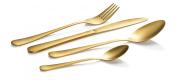 16PC Stainless Steel Cutlery set - Matt Gold