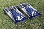 Tampa Bay Lightning NHL Cornhole Game Set Weathered Triangle Version