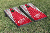 Detroit Red Wings NHL Cornhole Game Set Weathered Triangle Version