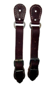7004-2 2.5cm WIDE LEATHER BULL RIDING SPUR STRAPS