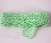 "7/8"" 23mm Elastic Lace Ribbon Trimings Stretch Embroidered Lace 10 Yards"
