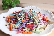 100PCS Mixed Colour Wishing bottle Paper Rolls Crafts Handmade Note Roll Material Filler wedding signature