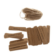 """100pcs Decorative """"Handmade with Love"""" Kraft Paper Gift Tags Labels Hanging Cards Event Party Favour DIY Decoration"""