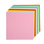 VNDEFUL 200 Sheets Coloured Double Sided Paper Crane Folding Origami Paper 10 Vivid Colours 15cm by 15cm