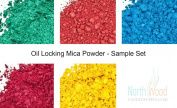 Oil Locking Mica Powder -Shimmer Colour Soap & Cosmetic Colour Sample Set