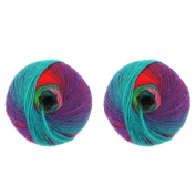 BambooMN Brand - Galaxy Fantasy Yarn - 2 Skeins - Party Punch - Colour 114