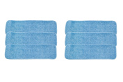 LTWHOME 46cm Microfiber Commercial Mop Refill Pads in Blue Fit for Wet or Dry Floor Cleaning