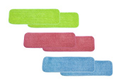 LTWHOME 46cm Multi-Colour Combination Microfiber Commercial Mop Refill Pads Fit for Wet or Dry Floor Cleaning
