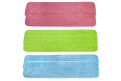 LTWHOME 60cm Multi-Colour Combination Microfiber Commercial Mop Refill Pads Fit for Wet or Dry Floor Cleaning