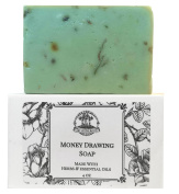Money Drawing Shea Herbal Soap Bar Handmade For Prosperity, Wealth, FInancial Abundance & Cash Wiccan Pagan Hoodoo Voodoo