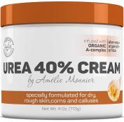 Urea 40% Advanced Callus Remover, Infused with Organic Botanicals and Essential Oils. Best Moisturiser - Softens Rough, Dry Skin. Superior Relief for Cracked Heels. Premium Foot Repair Cream. 120ml