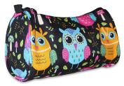 Ever Moda Multi Colour Owl Cosmetic Makeup Bag