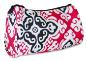 Ever Moda Pink Black New Damask Cosmetic Makeup Bag