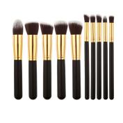 V-noah 10 Pcs Makeup Brushes Cosmetic Makeup Brush Set Premium Synthetic Bristles Foundation Blending Blush Eyeliner Face Powder Brush Makeup Brush Kit