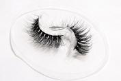 Flipped Lashes Magnolia 3D Mink Fur Fake Eyelashes Hand-made Thick Strip Lashes Natural False Eyelashes Beauty Makeup1Pair Package