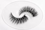 Flipped Lashes Freesia 3D Mink Fur Fake Eyelashes Hand-made Thick Strip Lashes Natural False Eyelashes Beauty Makeup1Pair Package