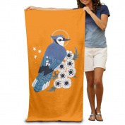 Cartoon Bird Flowers Boys Beach Towels Funny Beach Towels Oversized Beach Towel For Women Beach Towel For Men