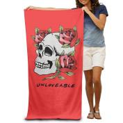 Red Roses Skull Skeleton Unloveable Men's Towels Cool Beach Towel Extra Large Beach Towel For Women Beach Towel For Men
