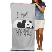 I Hate Mornings Panda Boys Beach Towels Nice Beach Towels Oversized Beach Towel For Women Beach Towel For Men