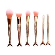 Women's Cosmetic Brushes, LOVELYIVA 2017 6PCS Make Up Eyebrow Cosmetic Brushes Eyeliner Foundation Eyeshadow Lip Brush