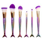 Women's Cosmetic Brushes, LOVELYIVA 2017 6PCS Set Blending Synthetic Makeup Brushes Eyebrow Eyeliner Foundation Cosmetic Concealer Brushes