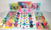 "Trolls Movie Deluxe Party Favours Goody Bag Fillers Set of 48 with Bracelets, ToyRings, Sticker Sheets and Troll ""Jewels""!"