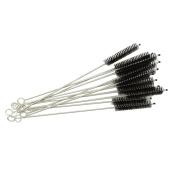 Honbay 12PCS Straw Cleaner Brushes, Super Soft Nylon Bristles and Stainless Steel Handle, Nylon Skinny Pipe Tube Cleaner - 10mm bristles x 200mm long