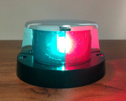 MARINE BOAT FESTOON NAVIGATION BOW LIGHT RED GREEN CHROME PLATED ZINC IP66