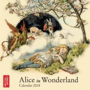 British Library - Alice in Wonderland Mini Wall Calendar 2018 Art Calendar)