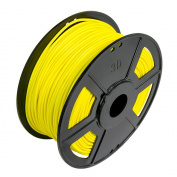WYZworks SOFT FLEXIBLE PLA 3.00mm (FLUORESCENT YELLOW) 3D Printer Filament 1kg / 2.2lb