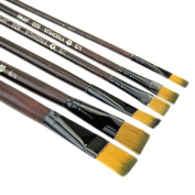 BCHZ 6pcs Brown Tip Nylon Paint Brushes