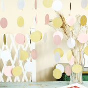 Paper Circle Garland Dots Hanging Decor, Circle Event & Party Supplies,5.1cm high,3m