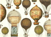 Tassotti Hot Air Balloons Decorative Rolled Gift Wrap Paper 2 Sheets 70cm x 100cm