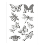 Transer Silicone Butterfly Flower Embossing Folder Template DIY Card Scrapbooking Decor