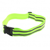 M-Egal Reflective Belt Kids Women Men Safety High Visibility Belt for Cycling Climbing Green 125cm