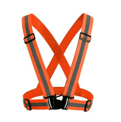 High Visibility Reflective Vest Adjustable Elastic Reflector Clothing Lightweight Safety Reflector Gear