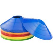 50-Pack Kevenz 5.1cm High Soccer disc Cones,Multi colour Cone for Agility Training, Soccer, Football, Kids, Field Marker
