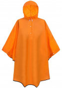 LANSHULAN Unisex's Pure Colour Waterproof Rain Poncho Hooded Raincoat