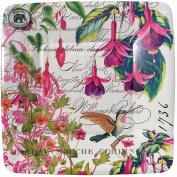Michel Design Works Luncheon Dessert Appetiser Plates - Fuchsia 8 ct