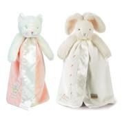 Angel Dear Bundle of 2 Buddy Blankets - Purr-Ty Kitty & White Bunny